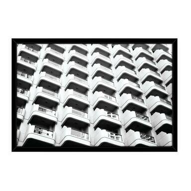 Obraz Białe Balkony  100 x 70 cm