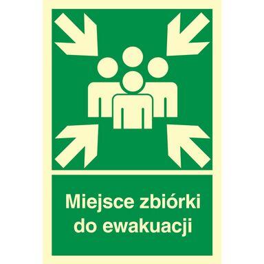Znak informacyjny MIEJSCE ZBIÓRKI DO EWAKUACJI 22 x 15 cm