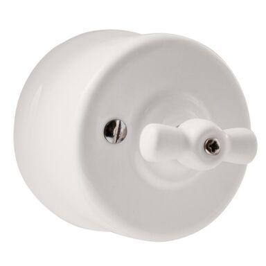 Włącznik pojedynczy CLA1001  Biały