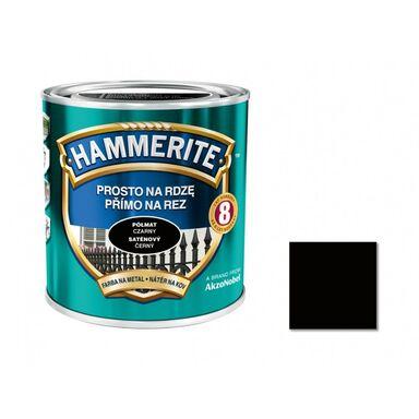 Farba antykorozyjna PROSTO NA RDZĘ 0.25 l Czarny Półmat HAMMERITE