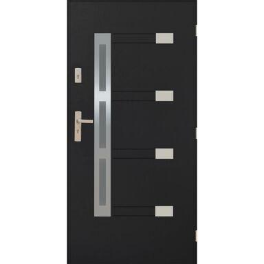 Drzwi zewnętrzne stalowe NIMES Antracyt 90 Prawe PANTOR