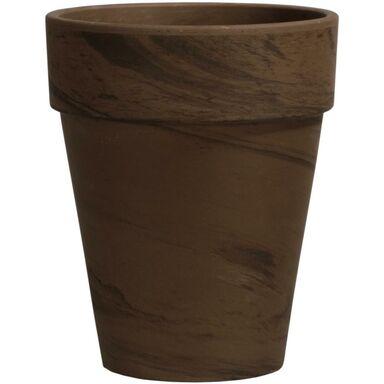 Doniczka ceramiczna 21 cm grafitowa XL BASALT CERMAX