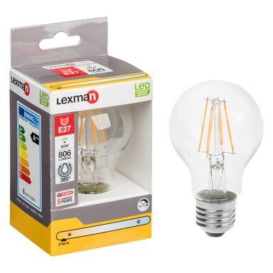 Żarówka LED E27 (230 V) 6.5 W 806 lm Ciepła biel LEXMAN
