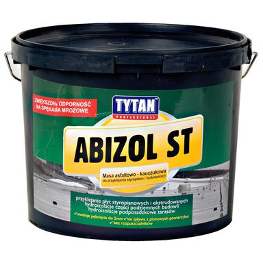 Masa asfaltowo - kauczukowa do styropianu ABIZOL S 9 kg Tytan Professional