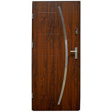 Drzwi zewnętrzne stalowe LINOX Orzech 80 Lewe