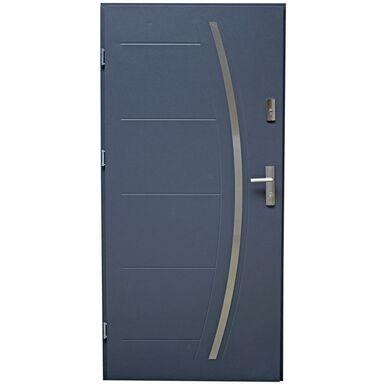 Drzwi zewnętrzne stalowe LINOX Antracyt 90 Lewe