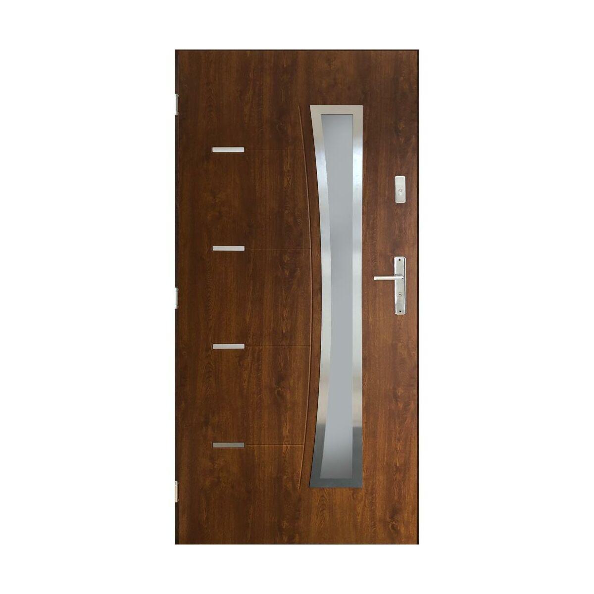 Drzwi Wejsciowe Lyon Orzech 90 Lewe Pantor Drzwi Wejsciowe Do Domu Mieszkania W Atrakcyjnej Cenie W Sklepach Leroy Merlin