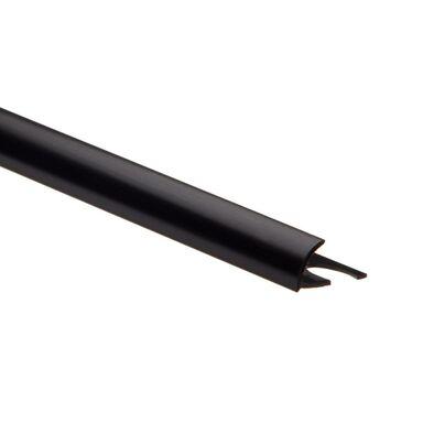 Profil do glaury zewnetrzny półokrągły PVC 10 mm / 2.5 m Czarny Standers