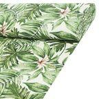 Tkanina bawełniana na mb PALMIS zielona w liście szer. 143 cm