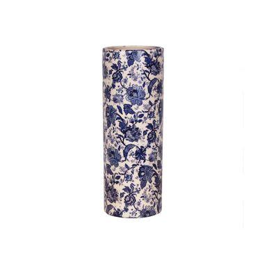 Wazon ceramiczny w niebieskie kwiaty wys. 31 cm