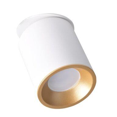 Oprawa natynkowa przegubowa HARON biało-złota GU10 POLUX