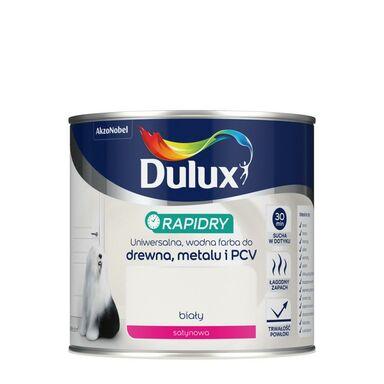 Farba wodna do drewna, metalu i PCV RAPIDRY 0.4 l Biały satynowy DULUX