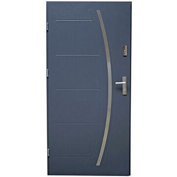 Drzwi wejściowe LINOX 80 Lewe Antracyt