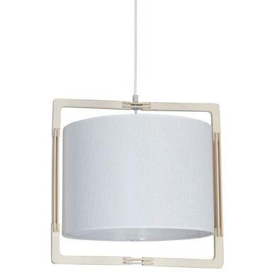 Lampa wisząca LOKI biała z drewnem E27 ALDEX IMPORT-EXPORT