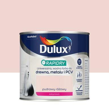 Farba wodna do drewna, metalu i PCV RAPIDRY 0.4 l Pudrowy różowy satynowy DULUX