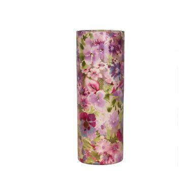 Wazon ceramiczny w różowe kwiaty wys. 31 cm