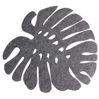 Podkładka filcowa na stół LIŚĆ 38 x 38 cm szara