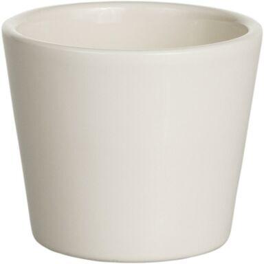 Osłona doniczki ceramiczna 12 cm kremowa PRYMULA/POINSECJA