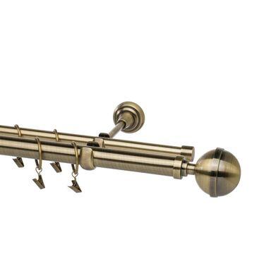 Karnisz Kula Elegant 240 cm podwójny złoty 25/16 mm