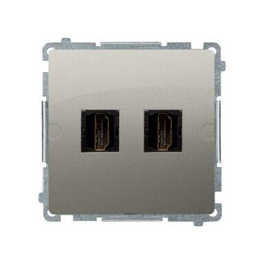 Gniazdo podwójne HDMI BASIC MODUŁ  satyna  KONTAKT SIMON