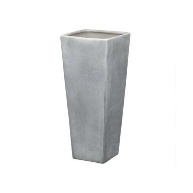 Wazon ceramiczny wys. 26 cm szary beton