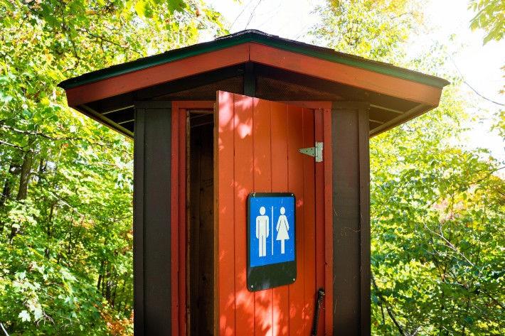 Toaleta na działce rekreacyjnej