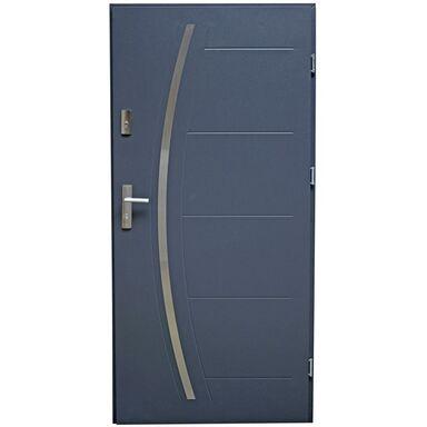 Drzwi zewnętrzne stalowe LINOX Antracyt 90 Prawe