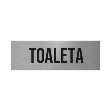 Znak informacyjny TOALETA 5 x 15 cm
