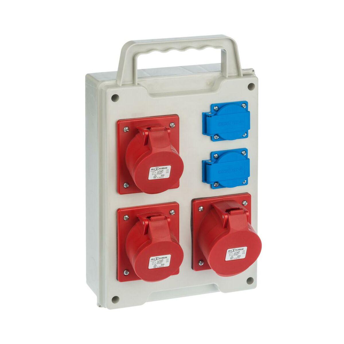Rozdzielnica elektryczna bez wyposażenia RS 6215 - 00 / 2 X 2P + Z 3 X 3P + N + Z 16 / 32A ELEKTRO-PLAST