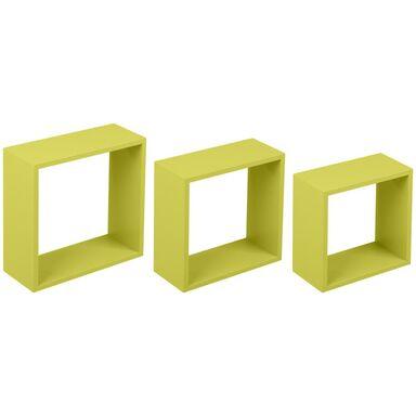 Zestaw 3 półek ściennych 3TC zielone Duraline