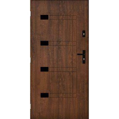 Drzwi wejściowe MONTPELLIER Orzech 90 Lewe PANTOR