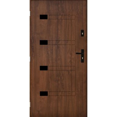 Drzwi zewnętrzne stalowe MONTPELLIER Orzech 90 Lewe PANTOR