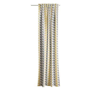 Zasłona Lily geo żółta 140 x 260 cm na taśmie