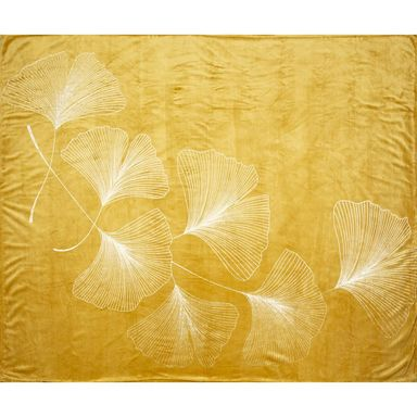 Koc Ginko miodowy żółty 150 x 200 cm
