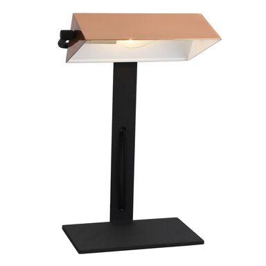 Lampka biurkowa BANKIER czarno-miedziana E14 CANDELLUX