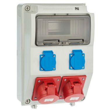 Rozdzielnica elektryczna bez wyposażenia RS 1 / 9 6221 - 00 / 2 X 2P + Z 2 X 3P + N + Z 16A ELEKTRO-PLAST