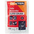 Folia ochronna SUPER GRUBA dł. 5 m szer. 4 m DEXTER