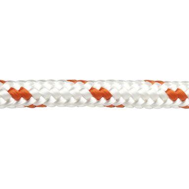 Lina PE 600 kg 12 mm x 1 mb pleciona biało-pomarańczowa STANDERS