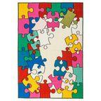 Dywan dziecięcy PUZZLE multikolor 100 x 150 cm INSPIRE
