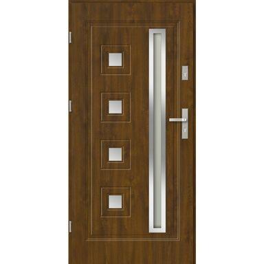 Drzwi wejściowe FERRARA 90 Lewe Złoty dąb EVOLUTION