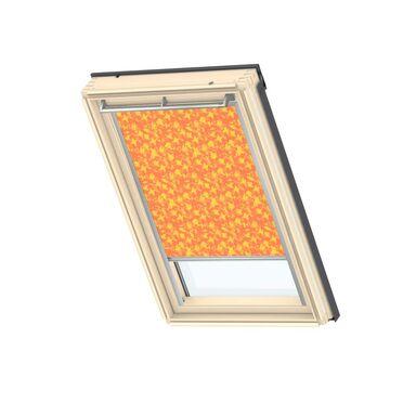 Roleta zaciemniająca DKL MK08 4568S Pomarańczowa ze wzorem 78 x 140 cm VELUX