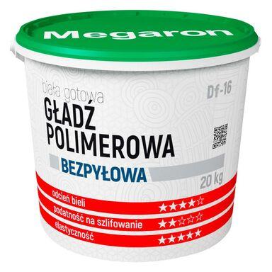 Gotowa gładź polimerowa BEZPYŁOWA DF-16 20 kg MEGARON