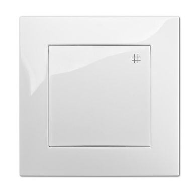 Włącznik pojedynczy CARLA  Biały  ELEKTRO-PLAST