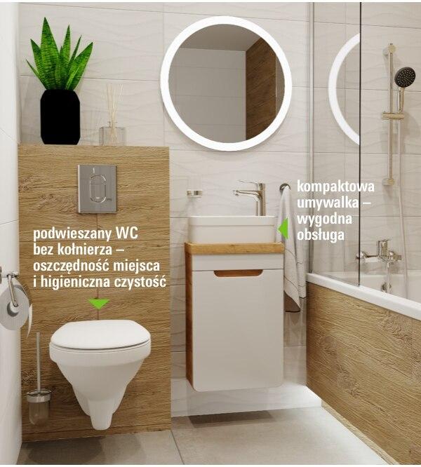 Mała łazienka - wielkie możliwości