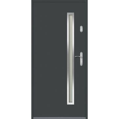 Drzwi zewnętrzne stalowe HERTZ Antracyt 90 Lewe EVOLUTION
