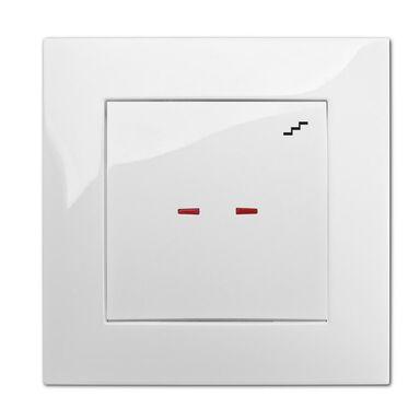 Włącznik pojedynczy schodowy z podświetleniem CARLA Biały ELEKTRO-PLAST