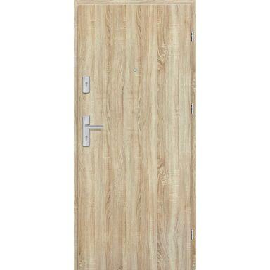 Drzwi zewnętrzne drewniane Grafen Dąb Sonoma Polska 80 Prawe otwierane na zewnątrz Nawadoor