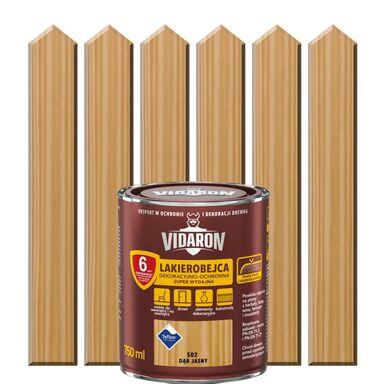 Lakierobejca do drewna OCHRONNO – DEKORACYJNA 0.75 l Dąb jasny VIDARON