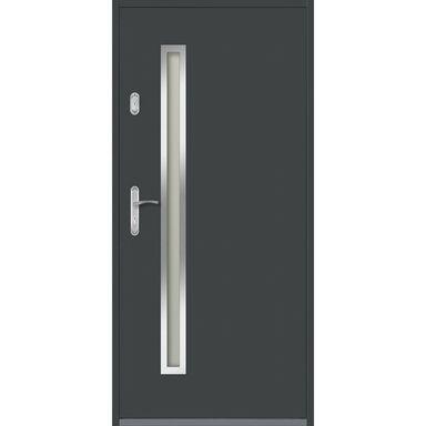 Drzwi zewnętrzne stalowe HERTZ Antracyt 90 Prawe EVOLUTION