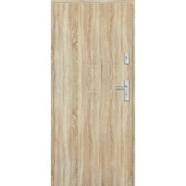 Drzwi zewnętrzne drewniane Grafen Dąb Sonoma Polska 90 Lewe otwierane do wewnątrz Nawadoor
